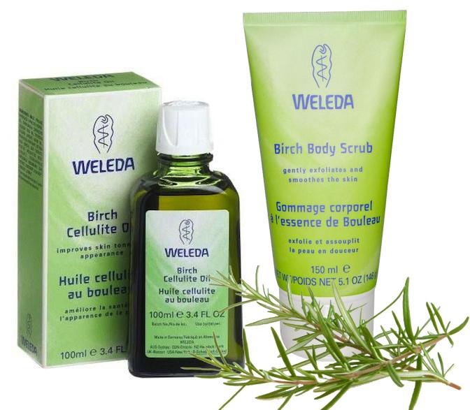 Weleda антицеллюлитный уход: березовое масло и скраб